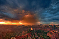 749220323 sunrise storms and heavy cloud cover over mount hayden at point imperial north rim of the grand canyon in arizona united states