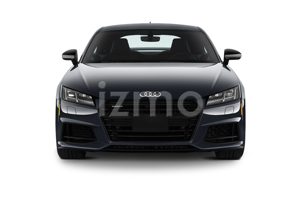 Car photography straight front view of a 2019 Audi TT-Coupe Base 2 Door Coupe