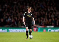 1st March 2020; Wembley Stadium, London, England; Carabao Cup Final, League Cup, Aston Villa versus Manchester City; Kevin De Bruyne of Manchester City - Strictly Editorial Use Only. No use with unauthorized audio, video, data, fixture lists, club/league logos or 'live' services. Online in-match use limited to 120 images, no video emulation. No use in betting, games or single club/league/player publications