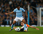 Taras Stepanenko of Shaktar Donetsk tackles Raheem Sterling of Manchester City during the Champions League Group F match at the Emirates Stadium, Manchester. Picture date: September 26th 2017. Picture credit should read: Andrew Yates/Sportimage