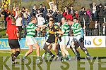 Ballinacourty players man handling Dr Crokes Colm Cooper during their Munster Championship quarter final clash in Dungarvan on Sunday
