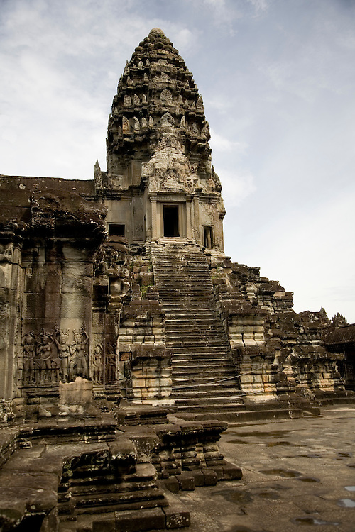 Sandstone Temple of Angkor Wat - Cambodia