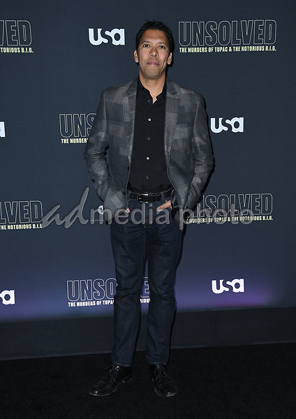 "22 February 2018 - Hollywood, California - Mark Taylor. USA Network's ""Unsolved: The Murders of Tupac & The Notorious B.I.G."" held at Avalon Hollywood. Photo Credit: Birdie Thompson/AdMedia"