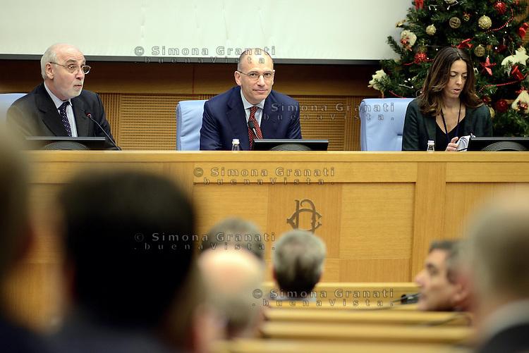 Roma, 23 Dicembre 2013<br /> Il presidente del Consiglio Enrico Letta sulle attivit&agrave; del Governo nella conferenza stampa di fine anno organizzata dall'ordine nazionale dei giornalisti