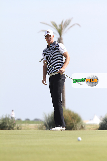 Chris Wood (ENG) on the 16th on Day 4 of the 2012 Sicilian Open at Verdura Golf and Spa Resort, Sicily, Italy.....(Photo Jenny Matthews/www.golffile.ie)