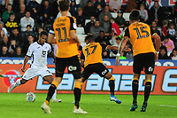 Wayne Routledge of Swansea City scores his side's sixth goal during the Carabao Cup Second Round match between Swansea City and Cambridge United at the Liberty Stadium in Swansea, Wales, UK. Wednesday 28, August 2019.