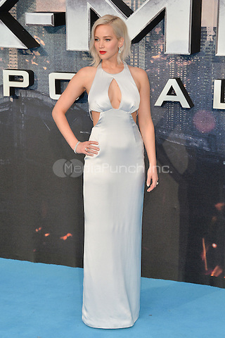 LONDON, ENGLAND - MAY 09  Jennifer Lawrence attends the Global Fan Screening of 'X-Men Apocalypse', at the BFI IMAX, in London, England. 9th May 2016.<br /> CAP/JWP<br /> &copy;JWP/Capital Pictures /MediaPunch ***NORTH AND SOUTH AMERICAN SALES ONLY***