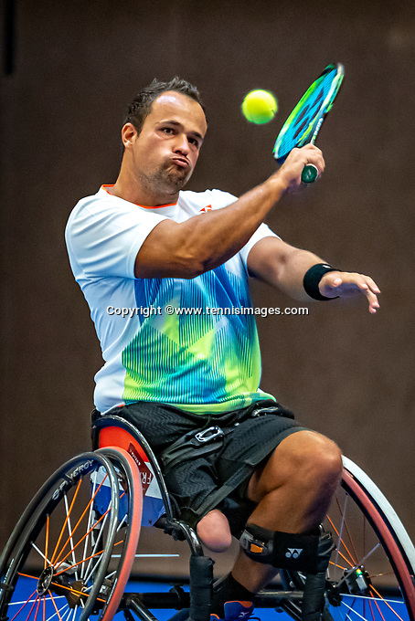 Alphen aan den Rijn, Netherlands, December 21, 2019, TV Nieuwe Sloot,  NK Tennis, Wheelchair, men's single,  Tom Egberink (NED)<br /> Photo: www.tennisimages.com/Henk Koster