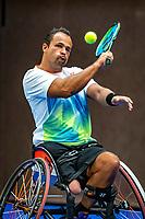 Alphen aan den Rijn, Netherlands, December 21, 2019, TV Nieuwe Sloot,  NK Tennis, Wheelchair, men's single,  Tom Egberink (NED)<br /> Photo: www.tennisimages.com/Henk Koster
