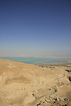 Israel, Judean Desert, a view of the Dead Sea from Route 31, the Sodom-Arad road