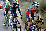 The breakaway group including Giovanni Visconti (ITA) Bahrain-Merida during Stage 11 of the 2017 La Vuelta, running 187.5km from Lorca to Observatorio Astron&oacute;mico de Calar Alto, Spain. 30th August 2017.<br />