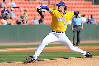 Chris Matulis #30 of the LSU Tigers at Lindsey Nelson Stadium in game against Tennessee Volunteers in Knoxville, TN March 27, 2010 (Photo by Tony Farlow/Four Seam Images)