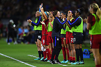 Carson, CA - Thursday August 03, 2017: USA bench during a 2017 Tournament of Nations match between the women's national teams of the United States (USA) and Japan (JPN) at the StubHub Center.