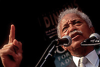New York, NY 16 Oct 1993 - NYC Mayor David N Dinkins speaking at a Chelsea For Choice rally