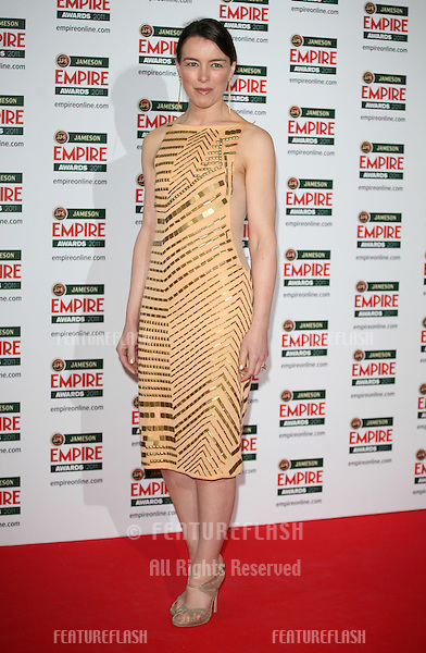 Olivia Williams arriving for the Jameson Empire Awards 2011, Grosvenor House Hotel, London. 27/03/2011  Picture by: Alexandra Glen / Featureflash