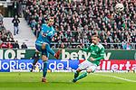 01.12.2018, Weserstadion, Bremen, GER, 1.FBL, Werder Bremen vs FC Bayern Muenchen<br /> <br /> DFL REGULATIONS PROHIBIT ANY USE OF PHOTOGRAPHS AS IMAGE SEQUENCES AND/OR QUASI-VIDEO.<br /> <br /> im Bild / picture shows<br /> Manuel Neuer (FC Bayern Muenchen #01) im Duell / im Zweikampf mit Johannes Eggestein (Werder Bremen #24), <br /> <br /> Foto &copy; nordphoto / Ewert