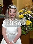 Annie Power who received first holy communion in St. Cianan's church Duleek.  Photo:Colin Bell/pressphotos.ie