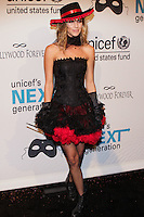 HOLLYWOOD, LOS ANGELES, CA, USA - OCTOBER 30: Dawn Olivieri arrives at UNICEF's Next Generation's 2nd Annual UNICEF Masquerade Ball held at the Masonic Lodge at the Hollywood Forever Cemetery on October 30, 2014 in Hollywood, Los Angeles, California, United States. (Photo by Rudy Torres/Celebrity Monitor)