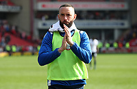 Bolton Wanderers' Aaron Wilbraham at the end of todays match<br /> <br /> Photographer Rachel Holborn/CameraSport<br /> <br /> The EFL Sky Bet Championship - Barnsley v Bolton Wanderers - Saturday 14th April 2018 - Oakwell - Barnsley<br /> <br /> World Copyright &copy; 2018 CameraSport. All rights reserved. 43 Linden Ave. Countesthorpe. Leicester. England. LE8 5PG - Tel: +44 (0) 116 277 4147 - admin@camerasport.com - www.camerasport.com