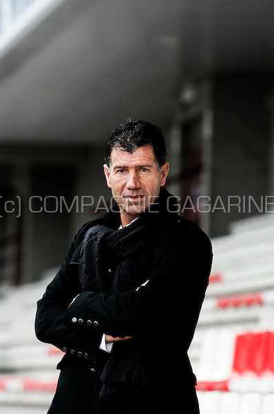 Belgian former football player Enzo Scifo, now coach in Mons (Belgium, 04/03/2012)
