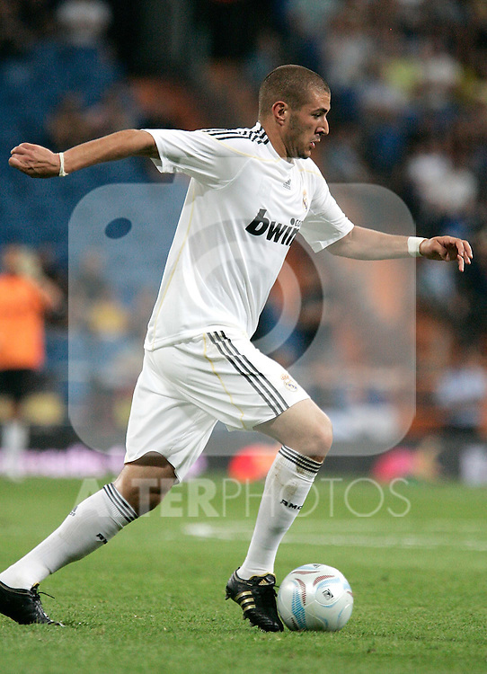 Real Madrid's Karim Benzema during a friendly match, July 28, 2009. (ALTERPHOTOS/Alvaro Hernandez).