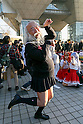 The middle-aged man GrowHair poses for a photograph during the Comic Market 91 (Comiket) event at Tokyo Big Sight on December 29, 2016, Tokyo, Japan. Manga and anime fans arrived in the early morning hours on the opening day of the 3-day long event. Held twice a year in August and December, the Comiket has been promoting manga, anime, game and cosplay culture since its establishment in 1975. (Photo by Rodrigo Reyes Marin/AFLO)