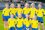 The St John's NS, Kenmare footballers at the Cumann na mbunscoil mini sevens finals in Fitzgerald Stadium on Thursday front row l-r: Taylor White, Amy Harrington, Sarah taylor, Ava Willey. Back row: Sonia Ciuciu, Sheena Galvin, Amanda Keane, Amber Keating-Foley, Emma Foley and Aoife Crowley