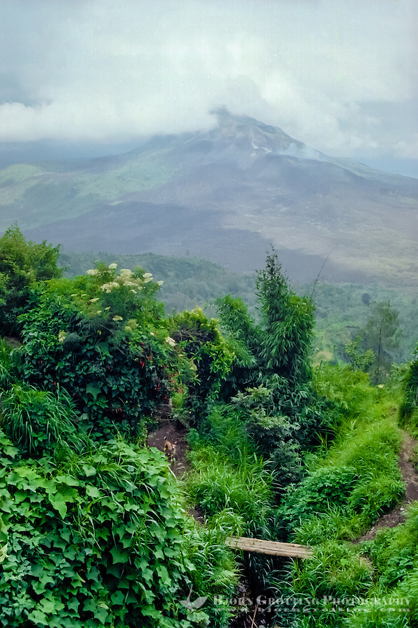 Bali, Bangli, Kintamani. Mount Batur (Gunung Batur) is an active volcano located north west of Mount Agung.