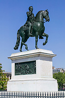 Statue of Henri IV on the Pont Neuf, Paris, France