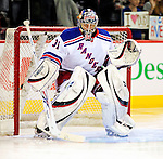 23 January 2010: New York Rangers' goaltender Matt Zaba warms up prior to a game against the Montreal Canadiens at the Bell Centre in Montreal, Quebec, Canada. The Canadiens shut out the Rangers 6-0. Mandatory Credit: Ed Wolfstein Photo