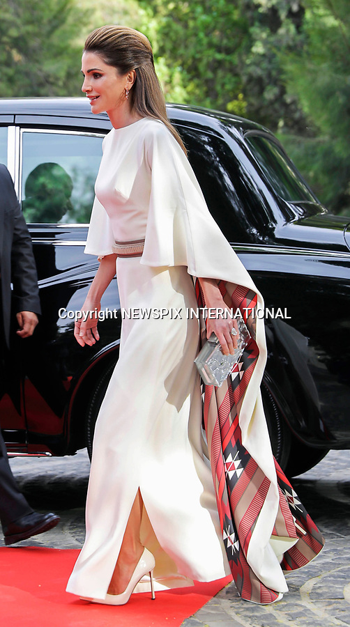 25.05.2017; Amman, Jordan: QUEEN RANIA<br /> attends the national celebrations on the occasion of the 71st anniversary of Jordan's Independence Day at Raghadan Palace, Amman<br /> Mandatory Photo Credit: &copy;RHC/NEWSPIX INTERNATIONAL<br /> <br /> IMMEDIATE CONFIRMATION OF USAGE REQUIRED:<br /> Newspix International, 31 Chinnery Hill, Bishop's Stortford, ENGLAND CM23 3PS<br /> Tel:+441279 324672  ; Fax: +441279656877<br /> Mobile:  0777568 1153<br /> e-mail: info@newspixinternational.co.uk<br /> &ldquo;All Fees Payable To Newspix International&rdquo;