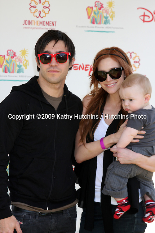 "Pete Wentz, Ashlee Simpson-Wentz & son Bronx Mowgli Wentz arriving at the ""A Time For Heroes Celebrity Carnival"" benefiting the Elizabeth Glaser Pediatrics AIDS Foundation at the Wadsworth Theater Grounds in Westwood , CA on June 7, 2009 .©2009 Kathy Hutchins / Hutchins Photo.."