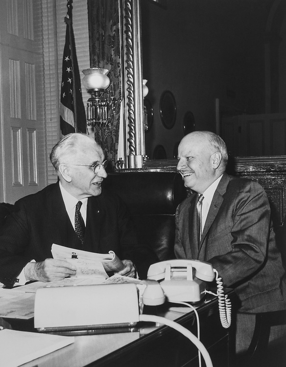 Rep. Robert L. F. Sikes, D-Fla., and Speaker of the House Rep. John William McCormack, D-Mass. (Photo by CQ Roll Call)