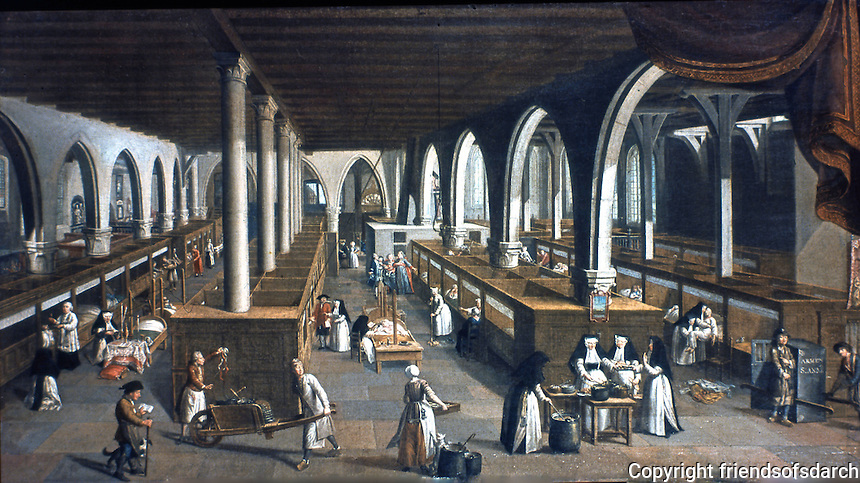 Bruges: Sint-Janshospitaal. View of the ancient sick wards. Jan Beerblock. Reference only.