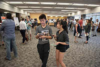 Occidental College's Undergraduate Research Center hosts their annual Summer Research Conference, Aug. 1, 2018. Student researchers presented their work as either oral or poster presentations at the final conference. The program lasts 10 weeks and involves independent research in all departments.<br /> (Photo by Marc Campos, Occidental College Photographer)