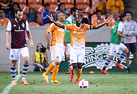 Houston, TX - October 8, 2016: The Colorado Rapids defeated the Houston Dynamo 3-2 during a Major League Soccer (MLS) match at BBVA Compass Stadium.