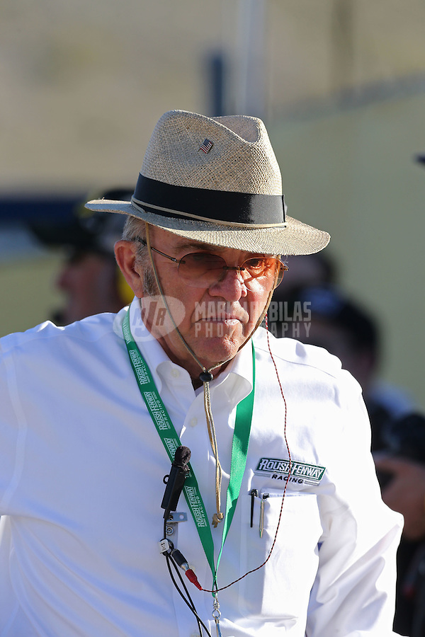 Mar. 1, 2013; Avondale, AZ, USA; NASCAR Sprint Cup Series team owner Jack Roush during qualifying for the Subway Fresh Fit 500 at Phoenix International Raceway. Mandatory Credit: Mark J. Rebilas-