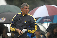 Ryder Cup 206 K Club, Straffin, Ireland...European Ryder Cup team player Darren Clarke on the 16th fairway during the morning fourballs session of the second day of the 2006 Ryder Cup at the K Club in Straffan, Co Kildare, in the Republic of Ireland, 23 September 2006...Photo: Eoin Clarke/ Newsfile.