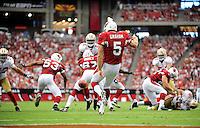 Sept. 13, 2009; Glendale, AZ, USA; Arizona Cardinals punter (5) Ben Graham against the San Francisco 49ers at University of Phoenix Stadium. San Francisco defeated Arizona 20-16. Mandatory Credit: Mark J. Rebilas-