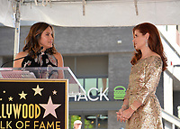 Debra Messing &amp; Mariska Hargitay at the Hollywood Walk of Fame Star Ceremony honoring actress Debra Messing on Hollywood Boulevard, Los Angeles, USA 06 Oct. 2017<br /> Picture: Paul Smith/Featureflash/SilverHub 0208 004 5359 sales@silverhubmedia.com