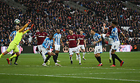 West Ham United's Javier Hernandez scores his side's fourth goal <br /> <br /> Photographer Rob Newell/CameraSport<br /> <br /> The Premier League - West Ham United v Huddersfield Town - Saturday 16th March 2019 - London Stadium - London<br /> <br /> World Copyright © 2019 CameraSport. All rights reserved. 43 Linden Ave. Countesthorpe. Leicester. England. LE8 5PG - Tel: +44 (0) 116 277 4147 - admin@camerasport.com - www.camerasport.com