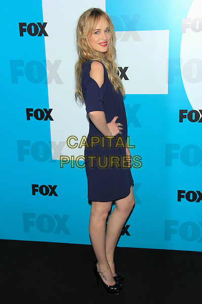 Dakota Johnson.The 2012 FOX Upfront After-Party at Central Park's Wollman Rink, New York, NY, USA..May 14th, 2012 .full length blue dress hand on hip slit split sleeve side.CAP/LNC/TOM.©LNC/Capital Pictures.