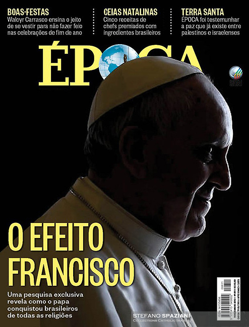 Época Brazilian Magazine Pope Francis.<br /> Photograph by Stefano Spaziani.