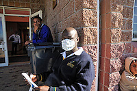 Protection against tubercolosis for every visitor in a public clinic in the township of Delpht, Cape Town, SA 2009