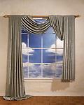 Very exspensive window treatment built on a set.