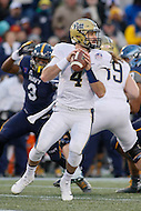 Annapolis, MD - December 28, 2015:    Pittsburgh Panthers quarterback Nathan Peterman (4) attempts to pass the ball during the Military Bowl game between Pitt vs Navy at Navy-Marine Corps Memorial Stadium in Annapolis, MD. (Photo by Elliott Brown/Media Images International)