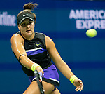 September 5,2019:  Bianca Andreescu (CAN) defeated Belinda Bencic (SUI) 7-6, 7-5, at the US Open being played at Billie Jean King National Tennis Center in Flushing, Queens, NY.  ©Jo Becktold/CSM