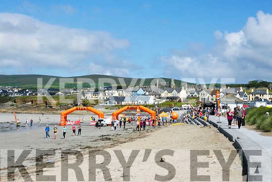 At the start of the 5km Sandstorm challenge last Saturday on Ballyheigue beach