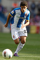 22.04.2012 MADRID, SPAIN - La Liga 11/12 match played between At. Madrid vs R.C.D. Espanyol (3-1) at Vicente Calderon stadium. the picture show Coutinho (Forward of Espanyol)