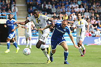 Lucas Akins of Burton Albion and Gillingham's Barry Fuller challenge for the ball during Gillingham vs Burton Albion, Sky Bet EFL League 1 Football at The Medway Priestfield Stadium on 10th August 2019